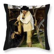 Looking The Morning Straight In The Eye Throw Pillow