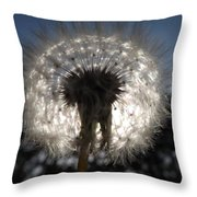 Looking Through A Dandelion Throw Pillow