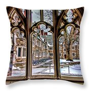 Looking Through An Arched Window At Princeton University At The Courtyard Throw Pillow