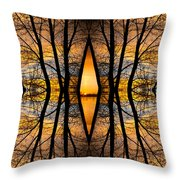 Looking Through The Trees Abstract Fine Art Throw Pillow