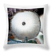 Looking Thru A Pipe...negative Throw Pillow