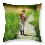 Looking To The Future Throw Pillow