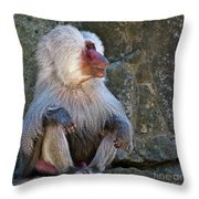 Looking To The Left Throw Pillow