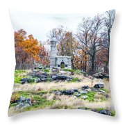 Looking Towards The Top Of Little Round Top Throw Pillow