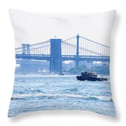 Looking Up At Brooklyn Throw Pillow