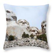 Looking Up At Mount Rushmore National Monument South Dakota Throw Pillow