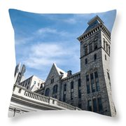 Looking Up At Old City Hall Throw Pillow