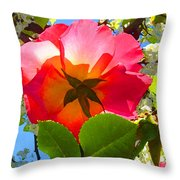 Looking Up At Rose And Tree Throw Pillow