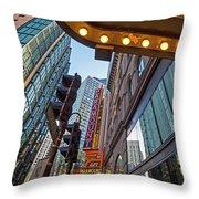 Looking Up At The Boston Paramount Boston Ma Throw Pillow