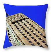 Looking Up At The Foshay Tower Throw Pillow