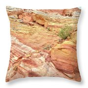 Looking Up From Wash 3 In Valley Of Fire Throw Pillow