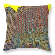Looking Up In Love Park Throw Pillow