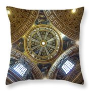 Looking Up In St Peter's Basilica Throw Pillow