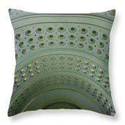 Looking Up In Union Station -- A Westward View Throw Pillow