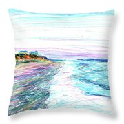 Looking Up The Beach Throw Pillow