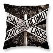 Lookout For The Locomotive Throw Pillow