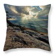Lookout Mountain Sunset Throw Pillow