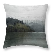 Lookout Point Lake Throw Pillow