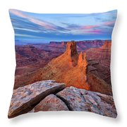Lookout Point Sunrise Throw Pillow