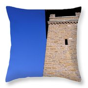 Lookout Tower On A Civil War Battlefield In Antietam Creek Maryl Throw Pillow