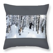 Lookout Trees Throw Pillow