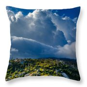 Looming Storm Clouds Throw Pillow