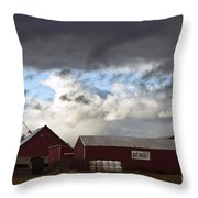 Looming Storm In Sumas Washington Throw Pillow