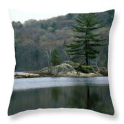 Loon At Black Lake Throw Pillow