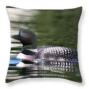 Loon In Summer Throw Pillow