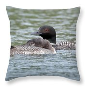 Loon Lullaby Throw Pillow