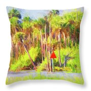 Loop Mile Marker 26 Throw Pillow