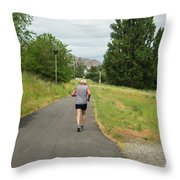 Loop Trail Runner Throw Pillow