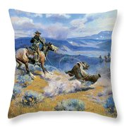 Loops And Swift Horses Are Surer Than Lead Throw Pillow