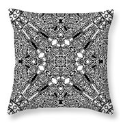 Loops Black And White No. 1 Throw Pillow