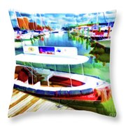 Loose Cannon Water Taxi 1 Throw Pillow by Lanjee Chee
