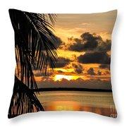 Lopez Point Sunset Throw Pillow