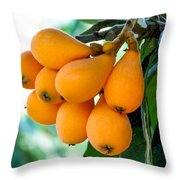 Loquats In The Tree 5 Throw Pillow