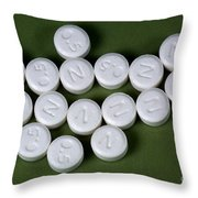 Lorazepam 0.5 Mg Tablets Throw Pillow