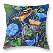 Lord Baltimore's Breakfast Throw Pillow