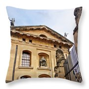 Lord Clarendon's Statue, Clarendon Building, Oxford Throw Pillow