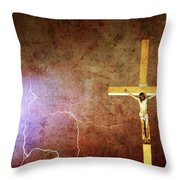 Lord Have Mercy - Crucifixion Of Jesus -2011 Throw Pillow