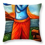 Lord Krishna- Hindu Deity Throw Pillow