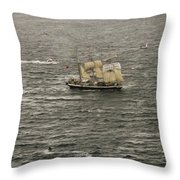 Lord Nelson Enters Sydney Harbour Throw Pillow