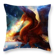 Lord Of The Celestial Dragons Throw Pillow