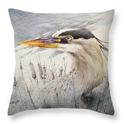 Lord Of The Marsh Throw Pillow