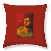 Lord Vishnu Throw Pillow