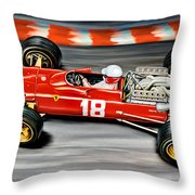Lorenzo Bandini Ferrari F-1 Throw Pillow
