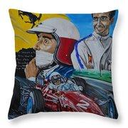 Lorenzo E Ferrari. La Passione Del Tifosi Throw Pillow