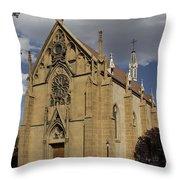 Loretto Chapel - Santa Fe Throw Pillow