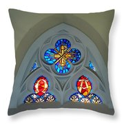 Loretto Chapel Stained Glass Throw Pillow